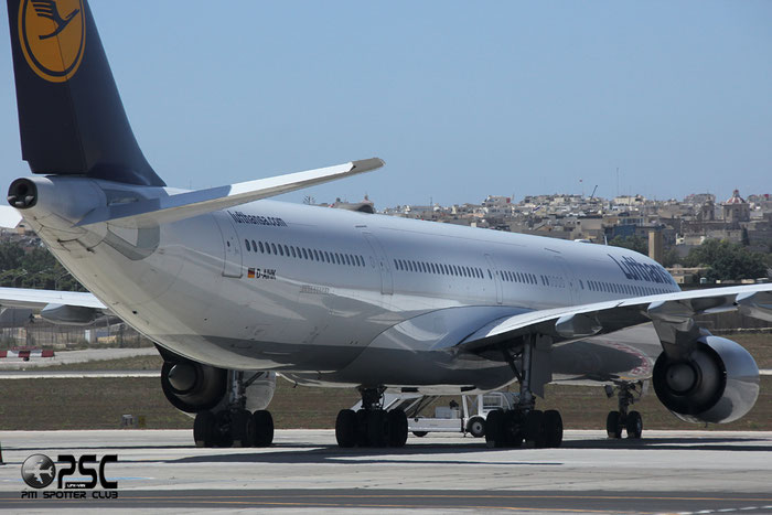 D-AIHK A340-642 580 Lufthansa @ Malta Airport 09.2014 © Piti Spotter Club Verona