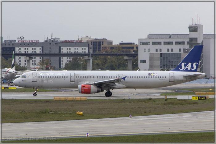 OY-KBL A321-231 1619 SAS Scandinavian Airlines - Scandinavian Airlines System @ Frankfurt Airport 22.10.2014 © Piti Spotter Club Verona