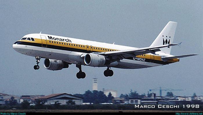G-MONZ  A320-212  446  Monarch Airlines @ Aeroporto di Verona © Piti Spotter Club Verona