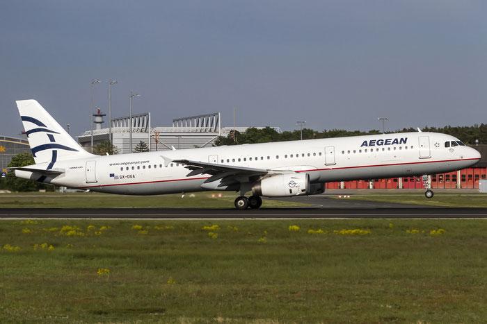 SX-DGA A321-231 3878 Aegean Airlines @ Frankfurt Airport 08.05.2015 © Piti Spotter Club Verona