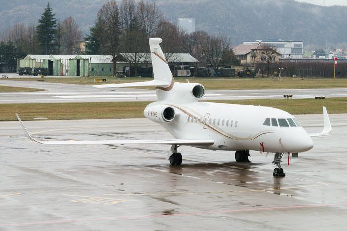 M-WING Falcon 900LX 270 Gama Aviation @ Aeroporto di Bolzano © Piti Spotter Club Verona