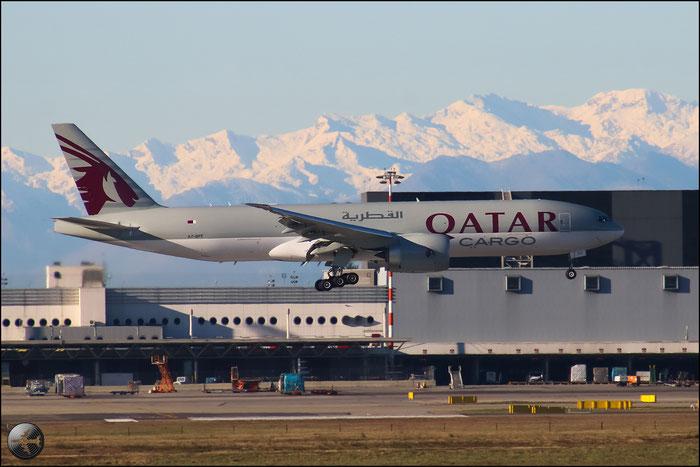 A7-BFF B777-FDZ 39645/1192 Qatar Airways @ Milano Malpensa Airport 31.01.2015  © Piti Spotter Club Verona