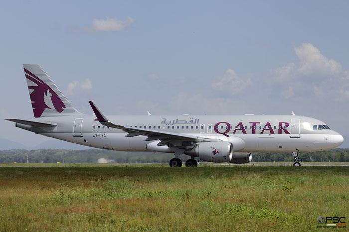 A7-LAG A320-214 6717 Qatar Airways @ Milano Malpensa Airport 05.05.2018 © Piti Spotter Club Verona
