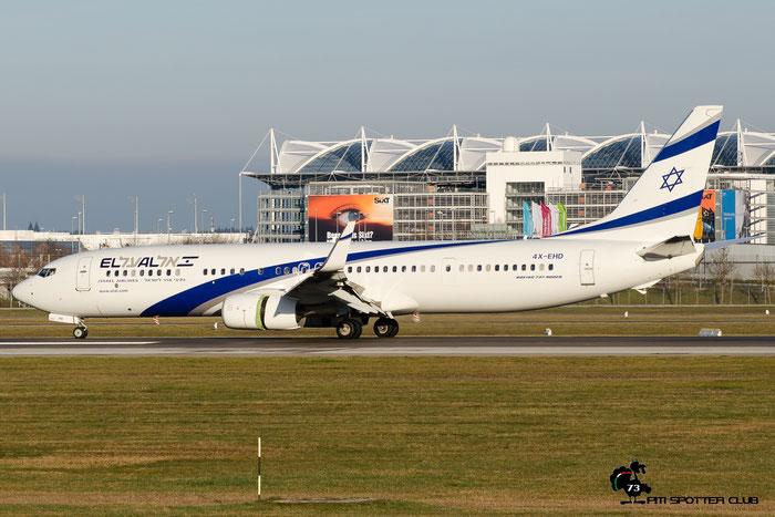 4X-EHD B737-958ER 41555/5311 El Al Israel Airlines @ Munich Airport 12.2016 © Piti Spotter Club Verona