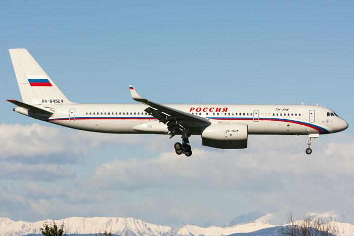 RA-64504 41204004 Tu-214 RA-64504 Rossiya @ Trieste Airport 26.11.2013 © Piti Spotter Club Verona