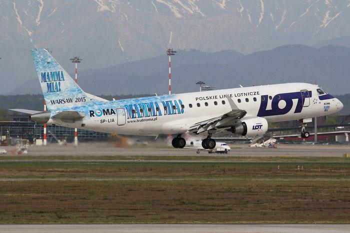 SP-LIA ERJ175LR 17000125 LOT Polish Airlines - Polskie Linie Lotnicze @ Milano Malpensa Airport 14.04.2015 © Piti Spotter Club Verona