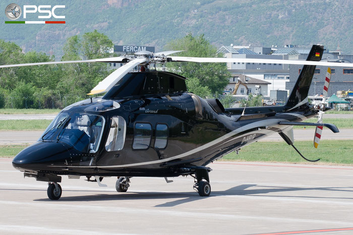 D-HBJR - Agusta A109S Grand [c/n 22059] @ Aeroporto di Bolzano © Piti Spotter Club Verona