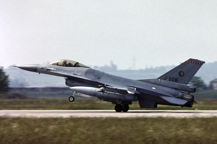 J-508   F-16AM  6D-147  312sq @ Aeroporto di Verona   © Piti Spotter Club Verona