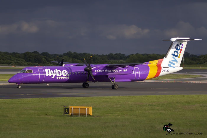 G-FLBC DHC-8-402 4257 Flybe - British European @ Manchester Airport 21.06.2015 © Piti Spotter Club Verona