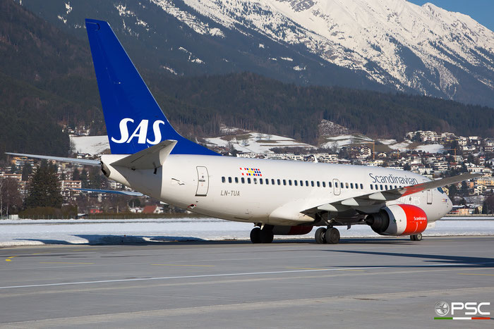 LN-TUA B737-705 28211/33 SAS Scandinavian Airlines - Scandinavian Airlines System @ Innsbruck Airport 27.01.2018 © Piti Spotter Club Verona