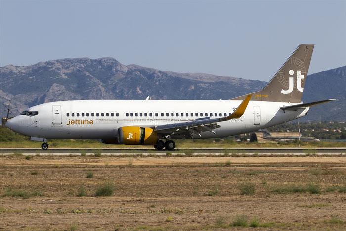 OY-JTE B737-3L9 27834/2692 Jet Time @ Palma de Mallorca Airport 07.2014 © Piti Spotter Club Verona