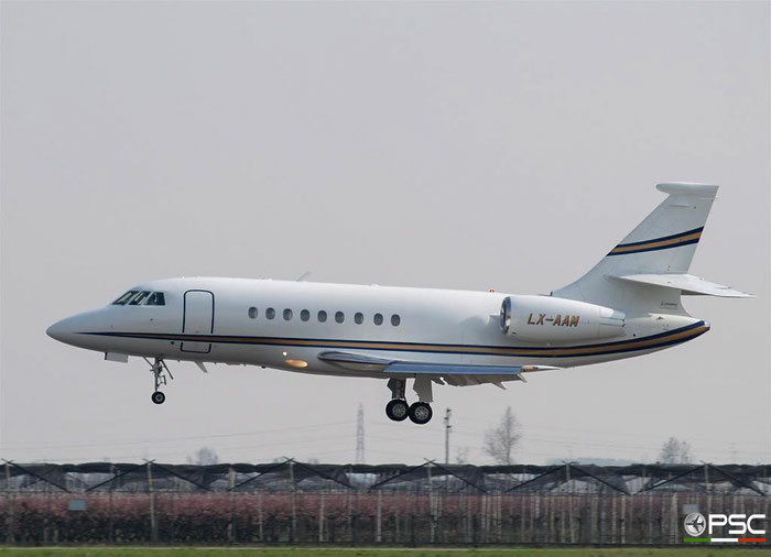 LX-AAM Falcon 2000EX 008 Global Jet Luxemburg SA @ Aeroporto di Verona 10.03.2007  © Piti Spotter Club Verona