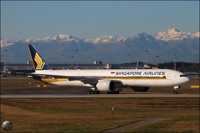 9V-SWQ B777-312ER 34582/716 Singapore Airlines @ Milano Malpensa Airport 31.01.2015 © Piti Spotter Club Verona