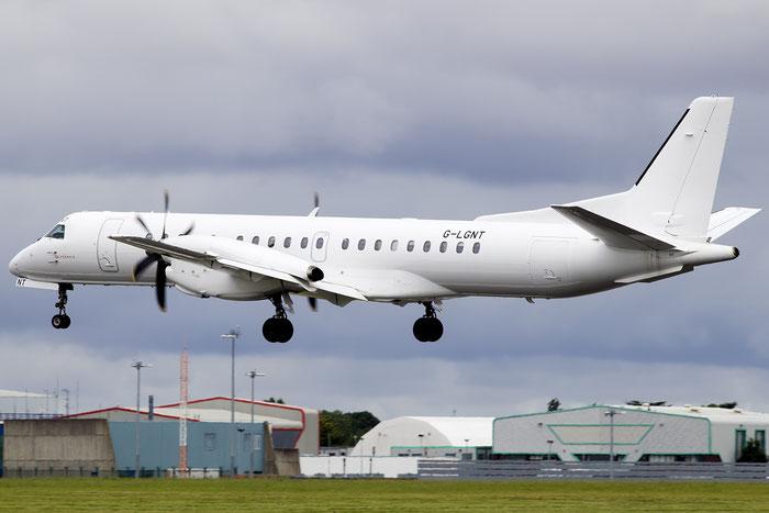 G-LGNT Saab 2000 2000-039 Loganair @ Dublin Airport 14.08.2016  © Piti Spotter Club Verona