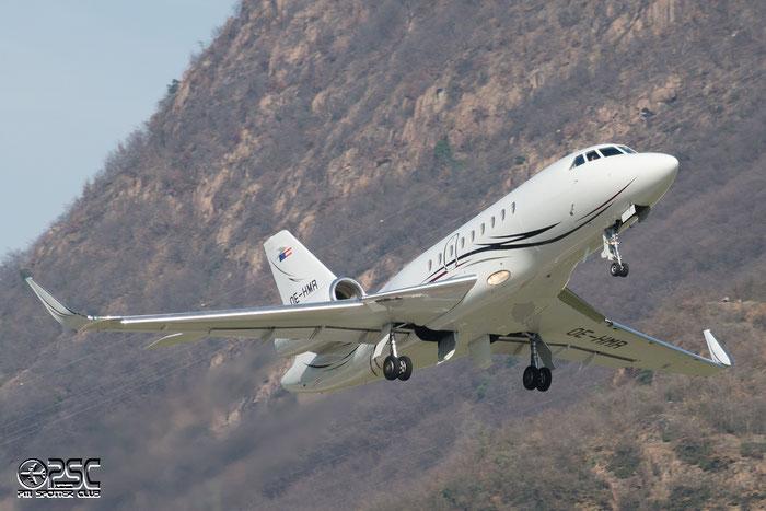 OE-HMR Falcon2000LX 152 Tupack Verpackungen Cnvd from Falcon2000EX-EASy to Falcon2000LX @ Aeroporto di Bolzano © Piti Spotter Club Verona