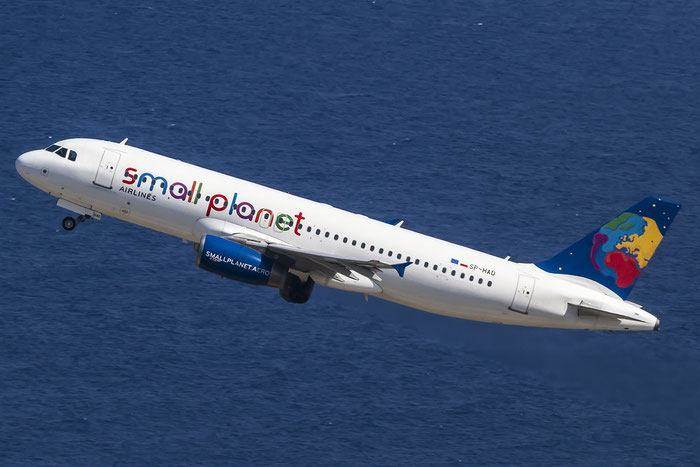 SP-HAD A320-232 2016 Small Planet Airlines Poland @ Rhodes Airport 06.07.2015 © Piti Spotter Club Verona