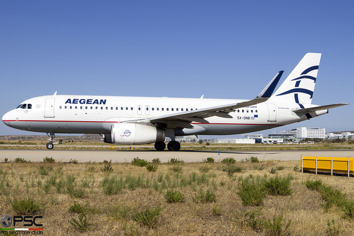 SX-DNB  A320-232  6832  Aegean Airlines @ Athens 2019 © Piti Spotter Club Verona