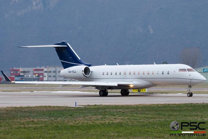 VH-FGJ Global Express XRS 9163 @ Aeroporto di Bolzano © Piti Spotter Club Verona