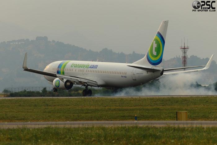 PH-HSB B737-8K2 34172/3242 Transavia Airlines @ Bergamo Airport 07.07.2013  © Piti Spotter Club Verona