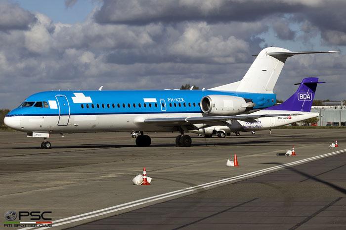 PH-KZK Fokker 70 11581 KLM Cityhopper @ Maastricht Airport 06.11.2017 © Piti Spotter Club Verona