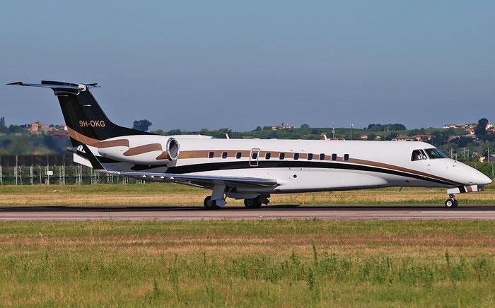 9H-OKG ERJ135BJ 14500986 Jet Aviation @ Aeroporto di Verona 23.07.2018  © Piti Spotter Club Verona