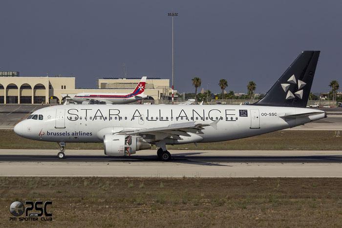 OO-SSC A319-112 1086 Brussels Airlines @ Malta Airport 09.2014 © Piti Spotter Club Verona