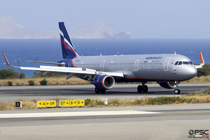 VP-BAV  A321-211  7037  Aeroflot  @ Heraklion 2019 © Piti Spotter Club Verona