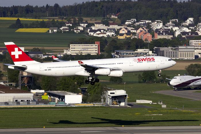 HB-JMG A340-313E 562 Swiss International Air Lines @ Zurich Airport 05.2016 © Piti Spotter Club Verona