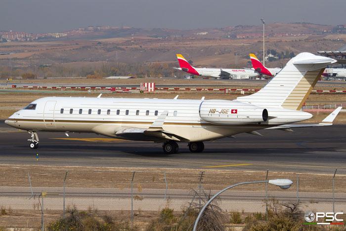 HB-JGE Global Express XRS 9287 TAG Aviation @ Madrid Airport 23.11.2017 © Piti Spotter Club Verona