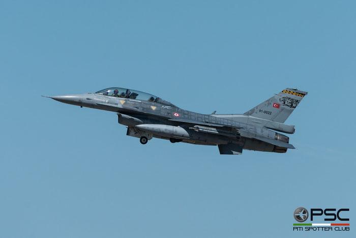 91-0022   F-16D-40-CF  4S-19  191 Filo © Piti Spotter Club Verona