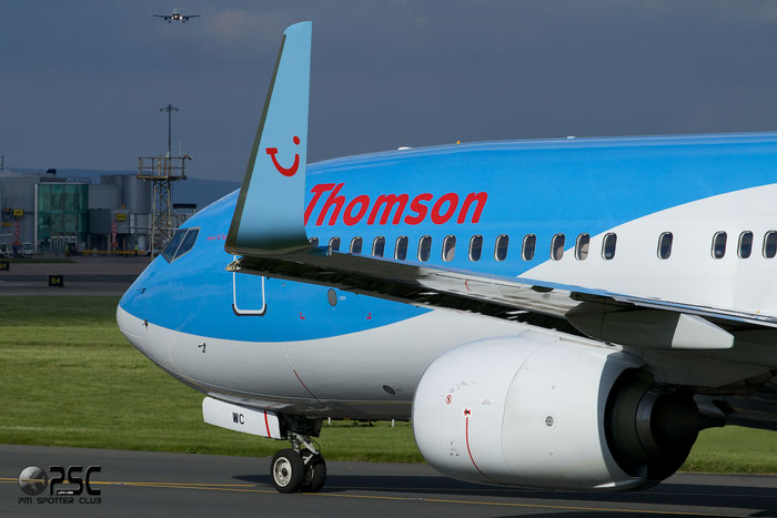 G-TAWC B737-8K5 39922/3925 Thomson Airways @ Manchester Airport 13.05.2014  © Piti Spotter Club Verona
