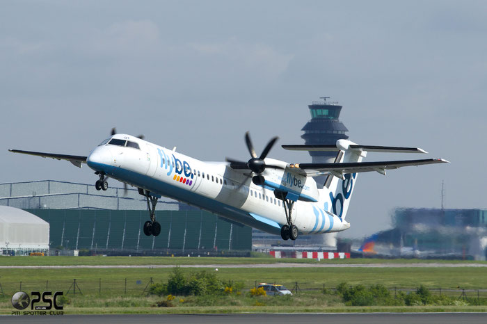 G-ECOT DHC-8-402 4251 Flybe - British European @ Manchester Airport 13.05.2014 © Piti Spotter Club Verona