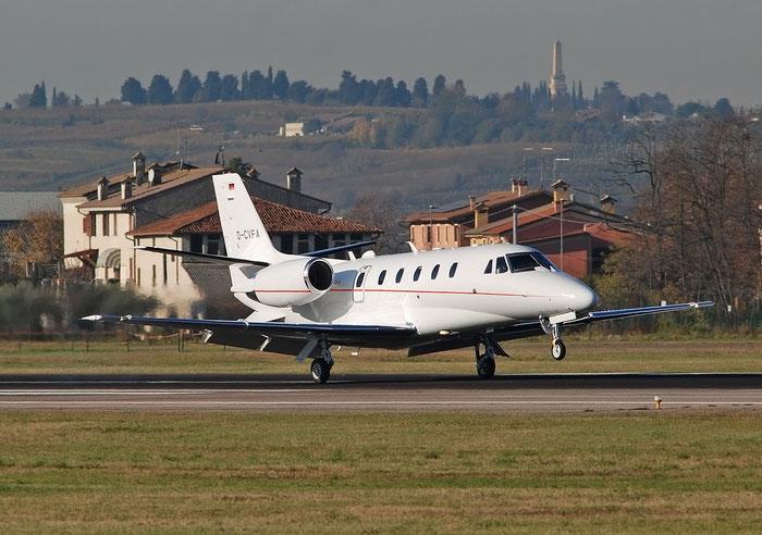 D-CVFA  Ce560XLS+  560-6273  Viessmann Werke GmbH @ Aeroporto di Verona 11.2020  © Piti Spotter Club Verona