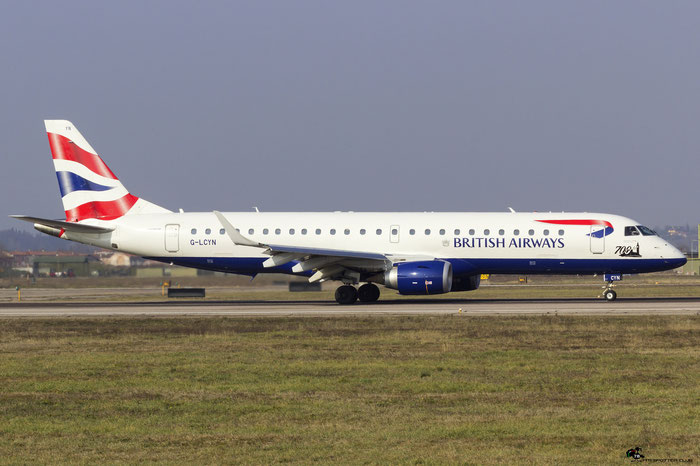G-LCYN ERJ190SR 19000392 British Airways @ Aeroporto di Verona 10.02.2018  © Piti Spotter Club Verona