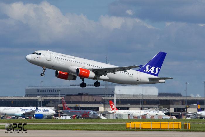 OY-KAN A320-232 2958 SAS Scandinavian Airlines - Scandinavian Airlines System @ Manchester Airport 13.05.2014 © Piti Spotter Club Verona