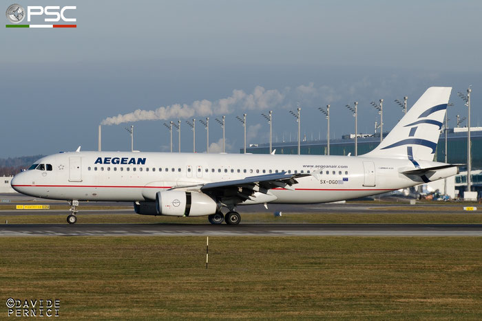 SX-DGO A320-232 3519 Aegean Airlines @ Munich Airport 13.12.2015 © Piti Spotter Club Verona