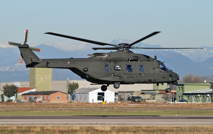 MM81552  E.I.235  UH-90A  ..../ITAR36  1° Gruppo Sqd  @ Aeroporto di Verona 19.12.2017 © Piti Spotter Club Verona