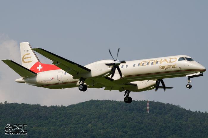 HB-IZH Saab 2000 2000-011 Darwin Airline @ Aeroporto di Bolzano © Piti Spotter Club Verona