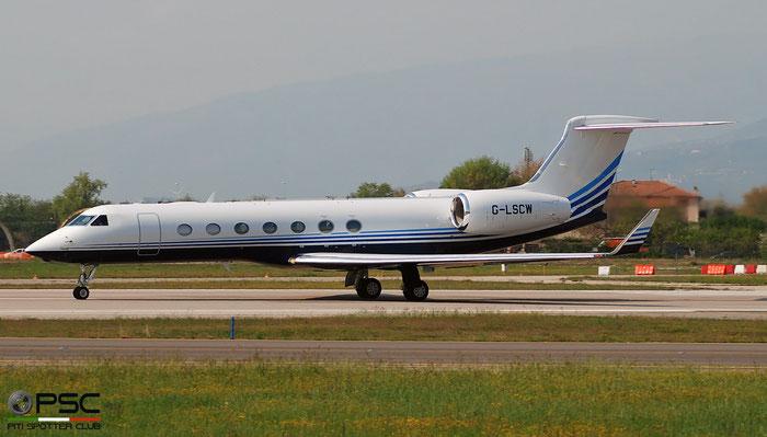 G-LSCW G550 5471 Langley Aviation Ltd. @ Aeroporto di Verona 04.2019  © Piti Spotter Club Verona