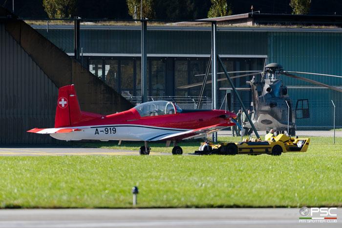 A-919   PC-7  327  Pilotenschule   © Piti Spotter Club Verona