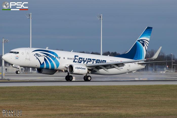 SU-GED B737-866 40802/4095 EgyptAir @ Munich Airport 13.12.2015 © Piti Spotter Club Verona