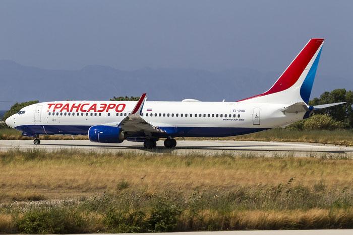 EI-RUR B737-8MC 44435/5351 Transaero Airlines @ Rhodes Airport 07.2015 © Piti Spotter Club Verona