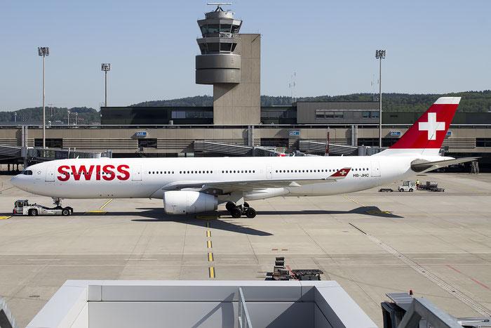 HB-JHC A330-343E 1029 Swiss International Air Lines @ Zurich Airport 05.2016 © Piti Spotter Club Verona
