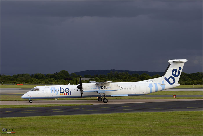 G-JECO DHC-8-402 4126 Flybe - British European @ Manchester Airport 21.06.2015  © Piti Spotter Club Verona