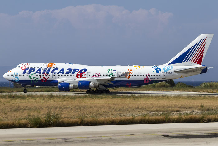 EI-XLO B747-412 28025/1289 Transaero Airlines @ Rhodes Airport 08.07.2015 © Piti Spotter Club Verona