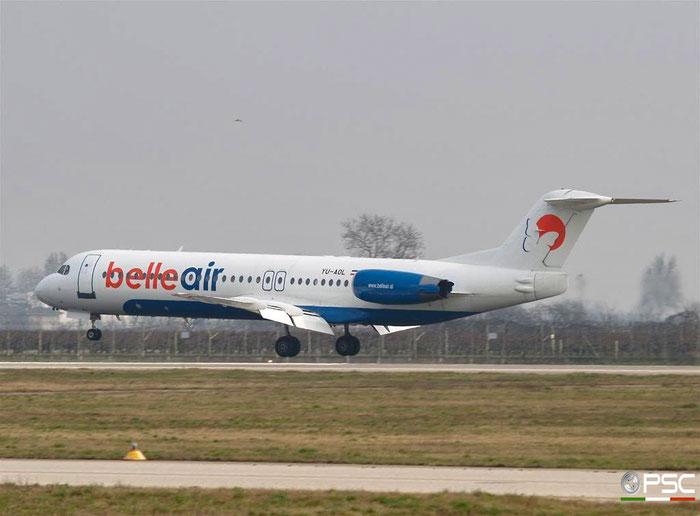 YU-AOL Fokker 100 11268 Belle Air @ Aeroporto di Verona 24.02.2007  © Piti Spotter Club Verona