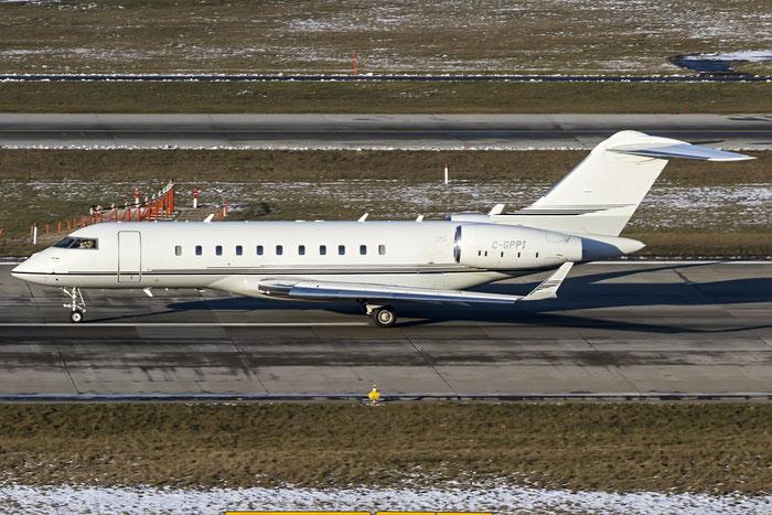 C-GPPI Global 5000 9158 Skyservice Aviation Inc. @ Zurich Airport 21.01.2016 © Piti Spotter Club Verona