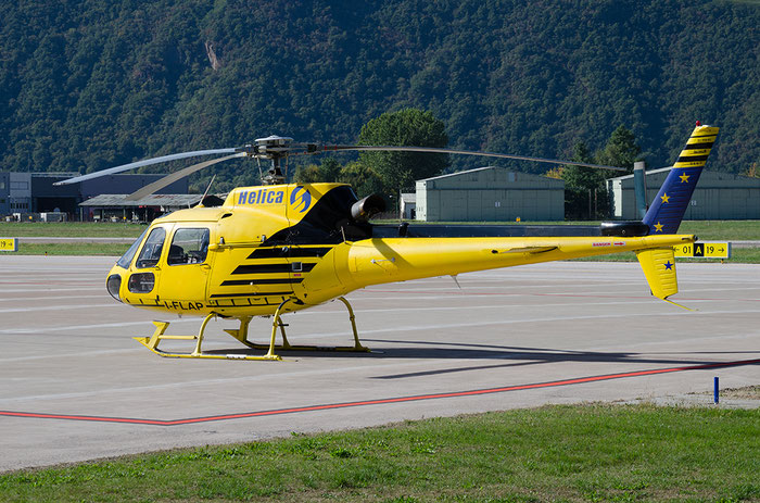 I-FLAP - Aérospatiale AS 350B2 Ecureuil - Helica @ Aeroporto di Bolzano © Piti Spotter Club Verona