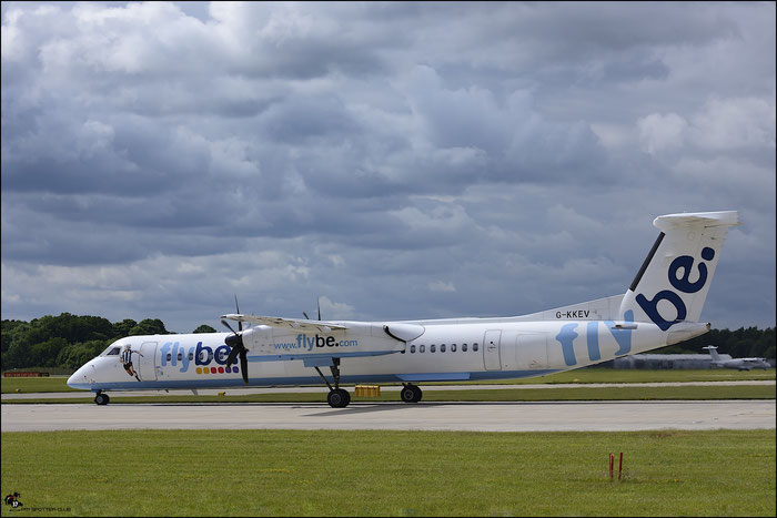 G-KKEV DHC-8-402 4201 Flybe - British European  @ Manchester Airport 21.06.2015  © Piti Spotter Club Verona
