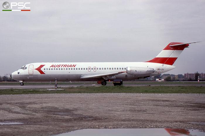 OE-LDI DC-9-32 47559/672 Austrian Airlines © 2018 courtesy of Marco Ceschi - Piti Spotter Club Verona